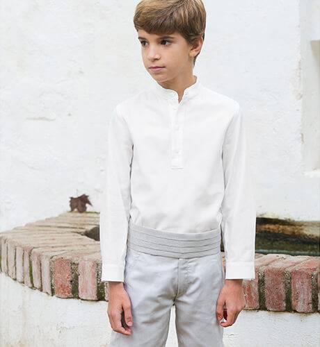 Pantalón niño ceremonia gris | Aiana Larocca