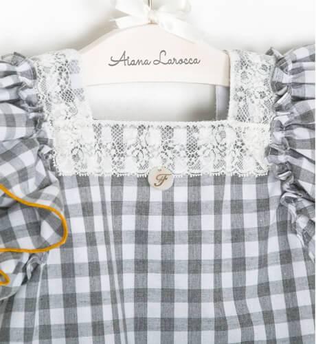 Vestido niña evasé vichy de Foque | Aiana Larocca