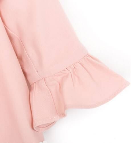 Vestido niña evasé rosa detalle tul de Dolce Petit | Aiana Larocca