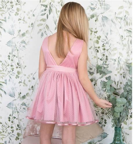 -NUEVO- Vestido niña rosa con tul plumeti de Nekenia   Aiana Larocca