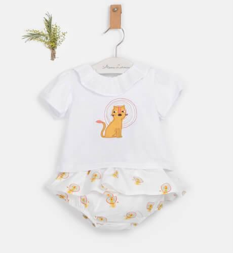 Conjunto bebé perrito mostaza de Coco Acqua | Aiana Larocca