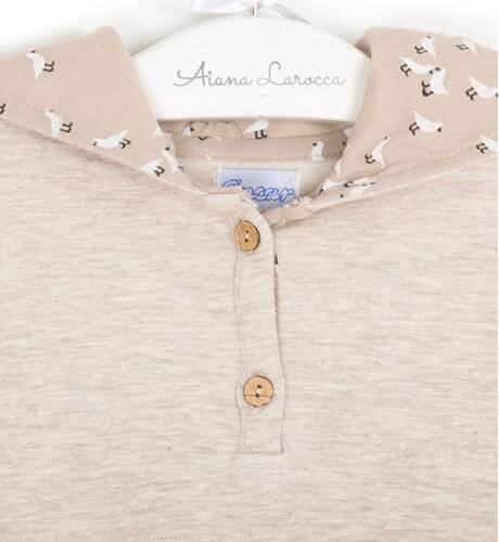 Vestido combinado felpa con capucha de Ancar | Aiana Larocca
