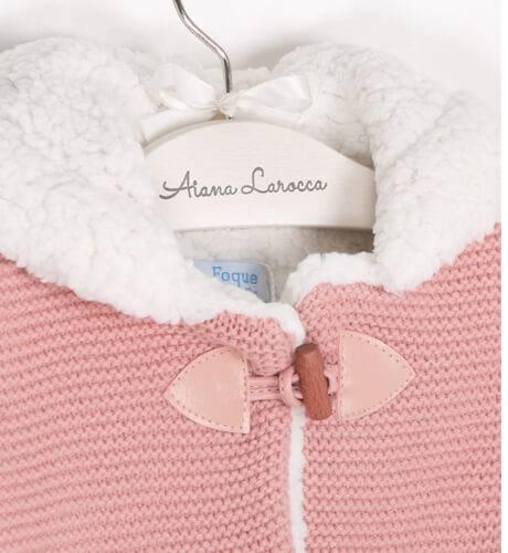 Trenca borreguito rosa de Foque | Aiana Larocca