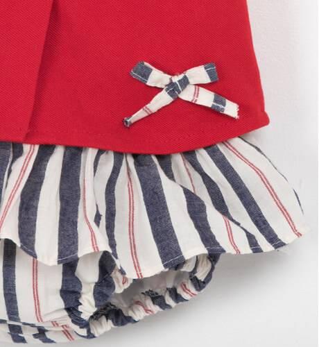 Conjunto camiseta roja & braguita nido elástico Valentina Bebés | Aiana Larocca