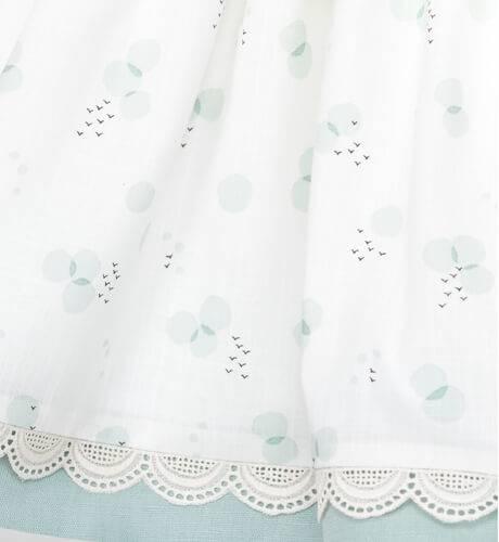 Vestido globos cuello y lazo verde de Mikamamá | Aiana Larocca