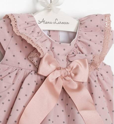 Jesusito rosa topitos con volantitos de Valentina Bebés | Aiana Larocca