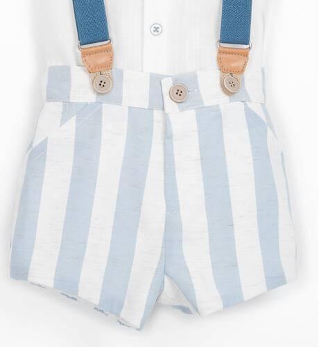 Conjunto niño pantalón tirantes a rayas ancha de Marta y Paula   Aiana Larocca