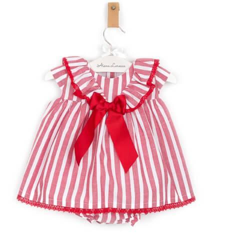Jesusito a rayas rojo de Valentina Bebés | Aiana Larocca