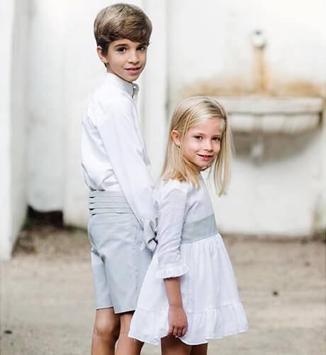 Camisa niño lino blanco | Aiana Larocca