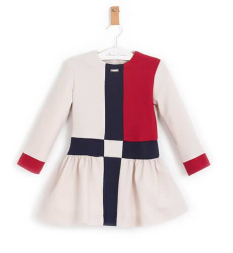 Vestido niña corte cintura tres tonos de Nekenia | Aiana Larocca