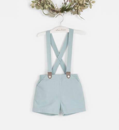 Pantalón tirantes villela verde | Aiana Larocca
