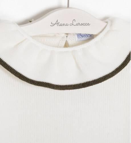 Jersey punto crudo detalle gris de Ancar   Aiana Larocca
