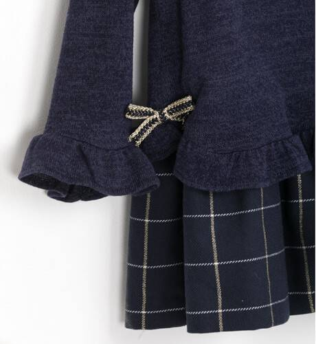 Vestido niña cuerpo punto y falda a cuadros de Basmartí   Aiana Larocca