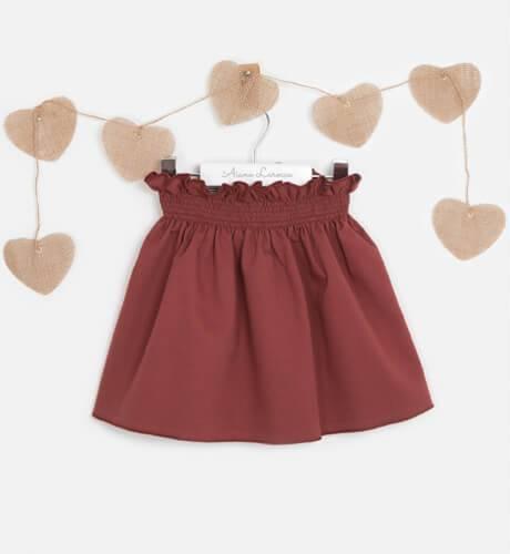 Falda granate colección Rose de Eve Children | Aiana Larocca