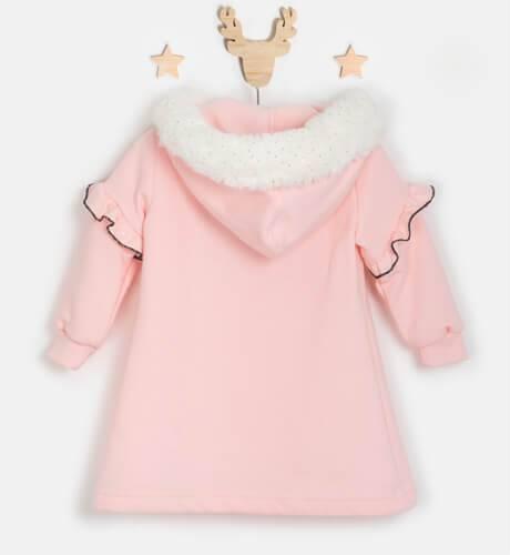 Vestido niña felpa rosa manos de Nekenia | Aiana Larocca