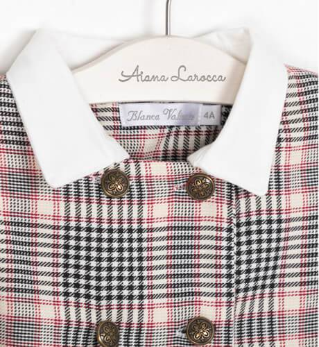 Vestido camisero a cuadros de Blanca Valiente | Aiana Larocca