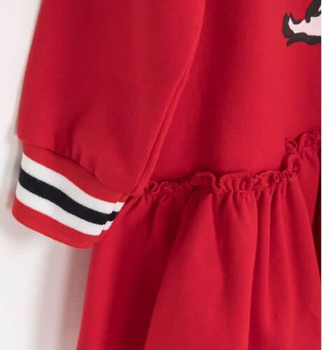 Vestido niña felpa rojo capucha perro de Mon Petit Bonbón   Aiana Larocca
