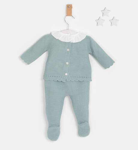 Conjunto bebé pelele luna verde empolvado de Valentina Bebés   Aiana Larocca