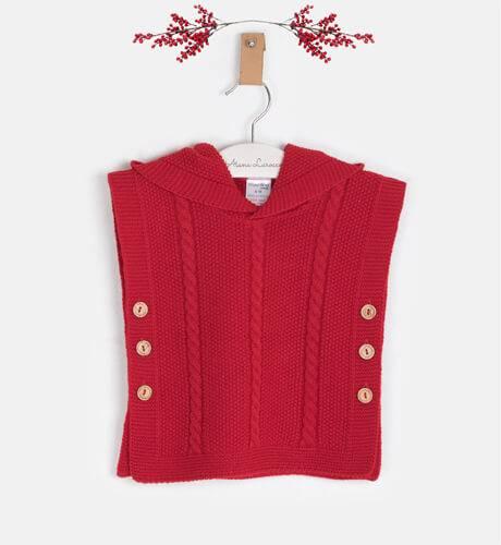 Capa punto roja con capucha de Valentina Bebés | Aiana Larocca