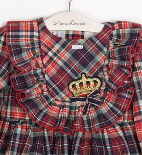 Vestido niña Oxford a cuadros & coronita de Diverdress by La Amapola | Aiana Larocca