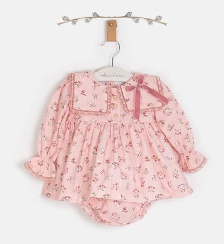 Jesusito bebé rosa flores de Valentina bebés   Aiana Larocca