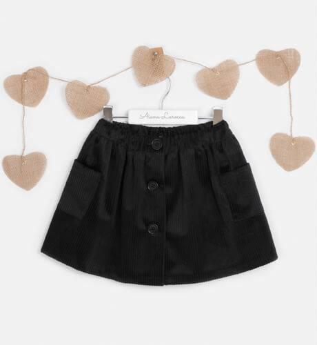 Falda pana negra de Mon Petit Bonbon | Aiana Larocca