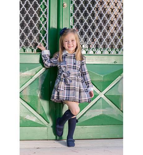 Vestido niña camisero a cuadros de Blanca Valiente | Aiana Larocca
