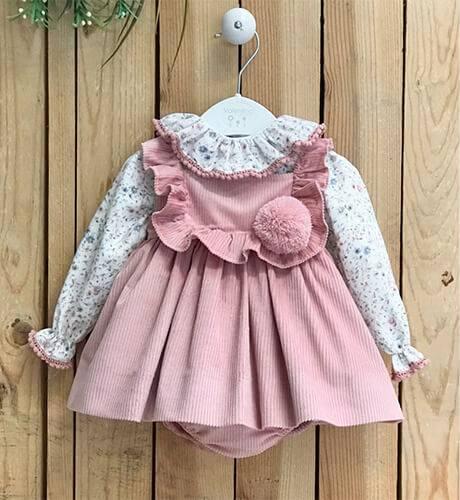Conjunto bebé Pichi rosa pompón de Valentina Bebés   Aiana Larocca