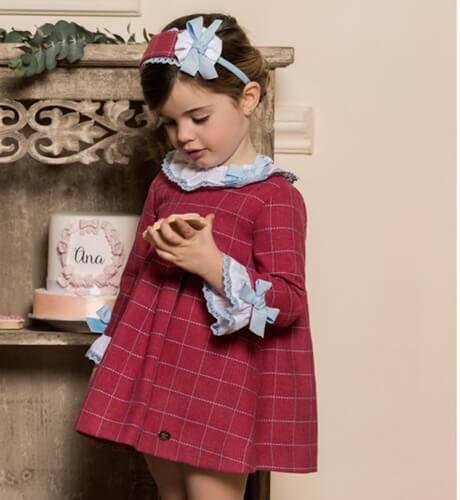 Vestido a cuadros fresa de Dolce Petit | Aiana Larocca