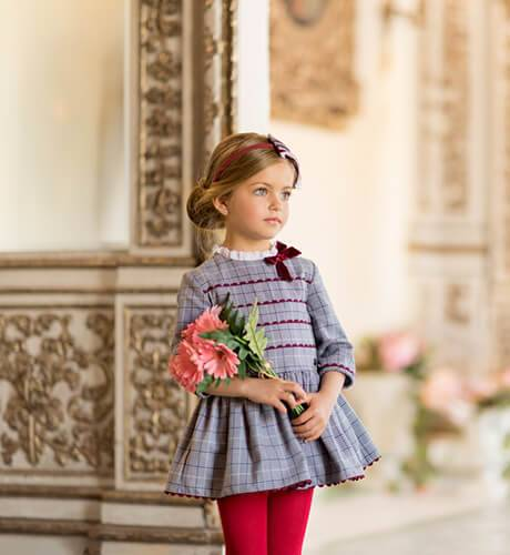 Vestido niña cuadro ingles de Dolce Petit   Aiana Larocca
