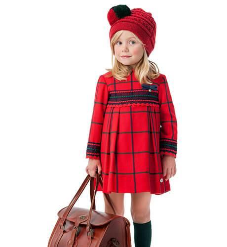 Vestido niña cuadros rojos de José Varón | Aiana Larocca