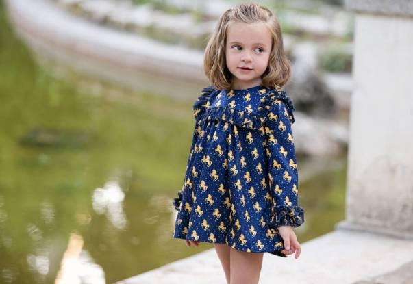 Vestido niña unicornios de Mon Petit Bonbón | Aiana Larocca