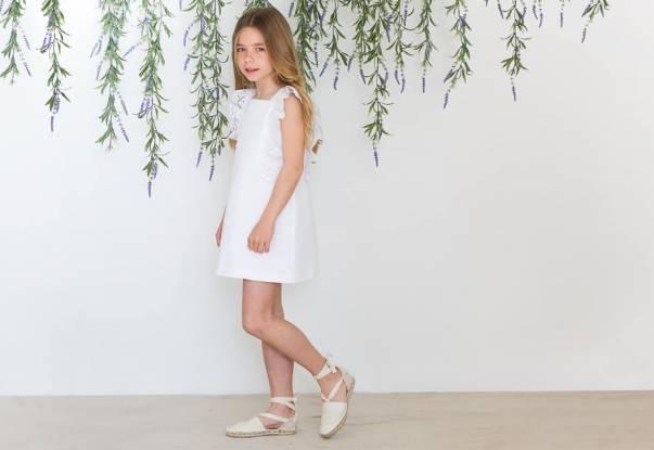 Vestido blanco tira bordada de Rochy   Aiana Larocca