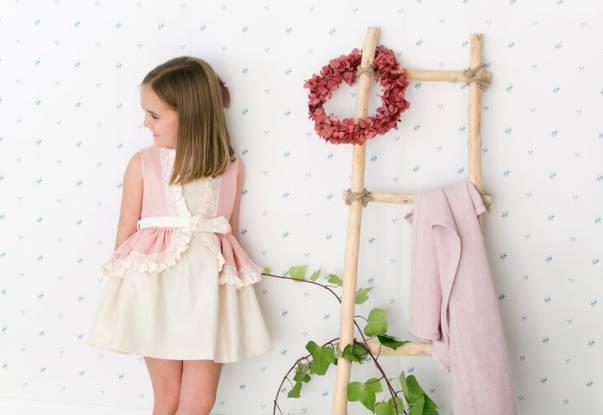 Vestido ceremonia niña en linotex de Nekenia | Aiana Larocca