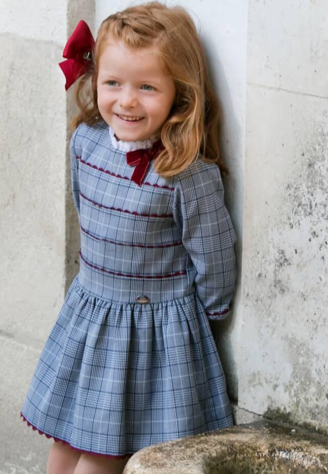 Vestido niña cuadro ingles de Dolce Petit | Aiana Larocca