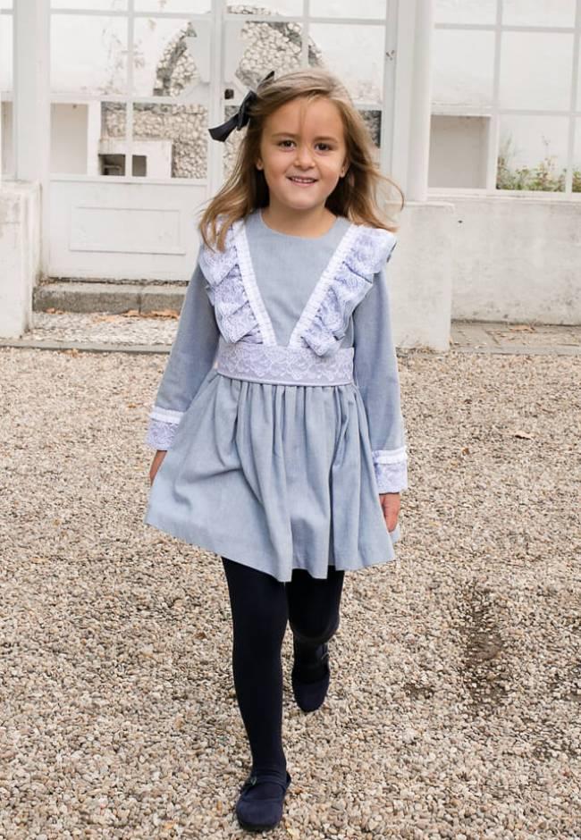 Vestido niña detalle puntilla de Nekenia   Aiana Larocca