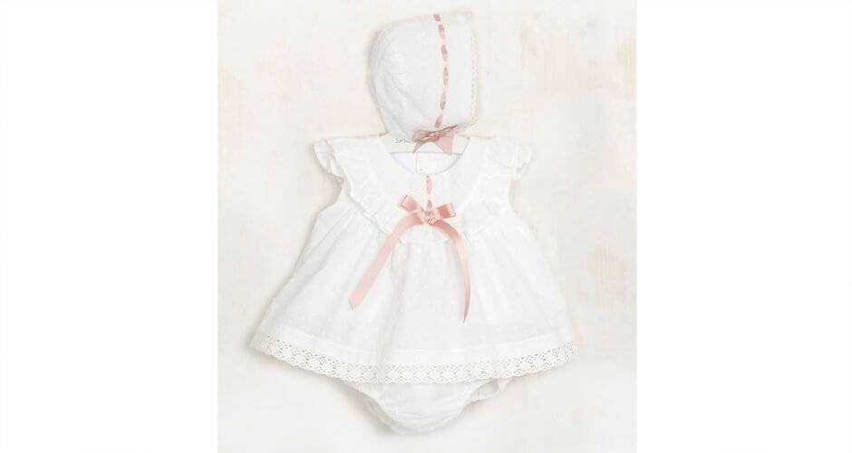 76537a26d Jesusito bebé plumeti crudo pasacinta rosa empolvado de Valentina Bebés