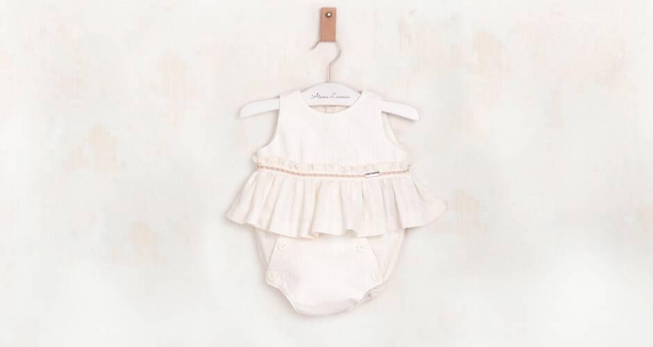 Conjunto bebé color crudo de Nekenia   Aiana Larocca