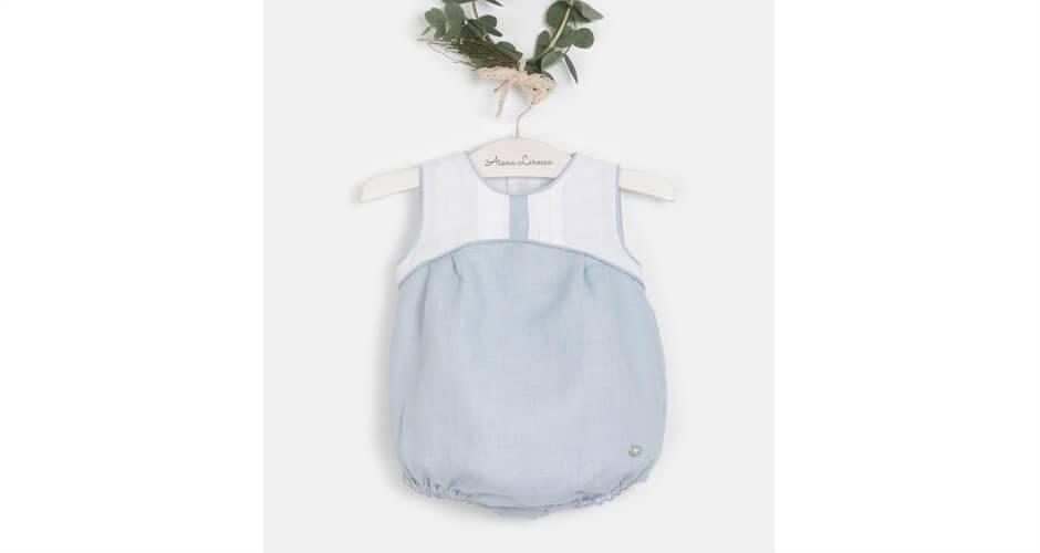 Ranita bombacho bebe azul y blanco de Marta y Paula | Aiana Larocca