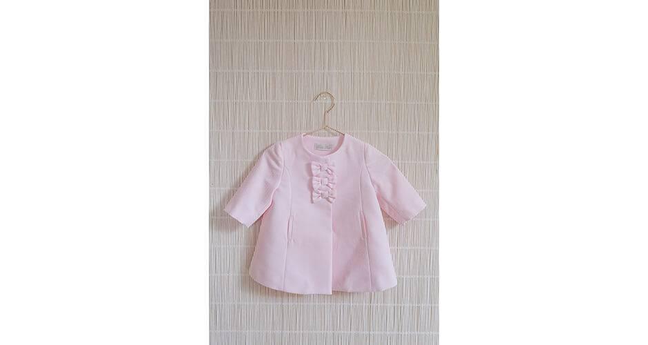 Abrigo bebe pique rosa de Dolce Petit | Aiana Larocca
