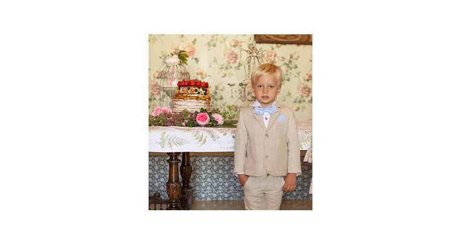 Conjunto niño chaqueta y pantalón corto en lino de Dolce Petit   Aiana Larocca