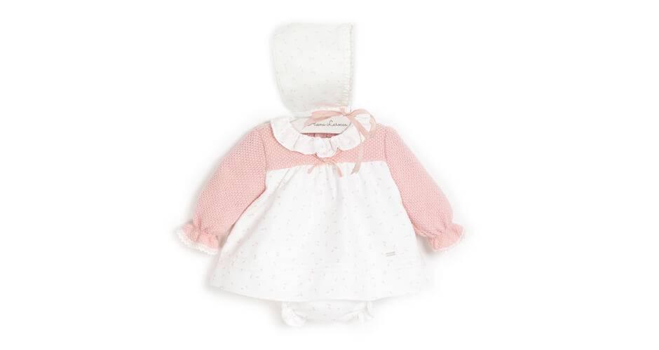 Jesusito bebé combinado punto rosa de Yoedu | Aiana Larocca