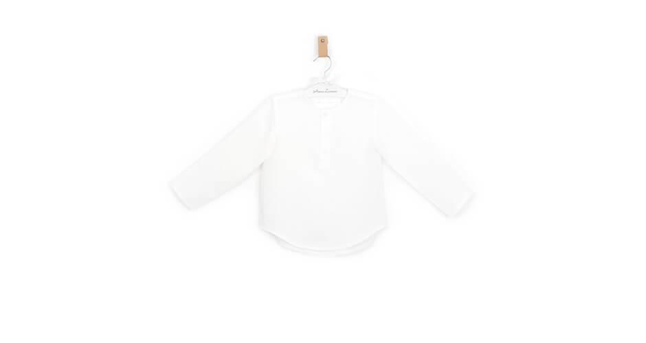 Camisa niño lino blanco roto | Aiana Larocca