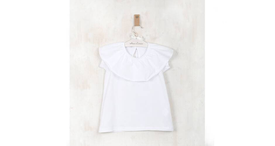 Blusa blanca punto camiseta de Ancar | Aiana Larocca
