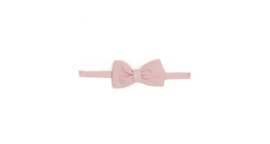 Pajarita niño lino rosa | Aiana Larocca