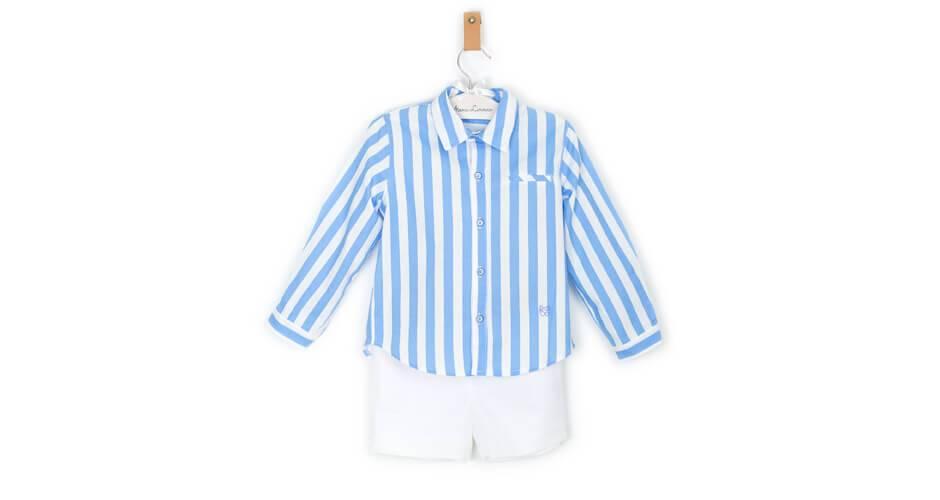 Conjunto niño camisa a rayas de Marta y Paula | Aiana Larocca