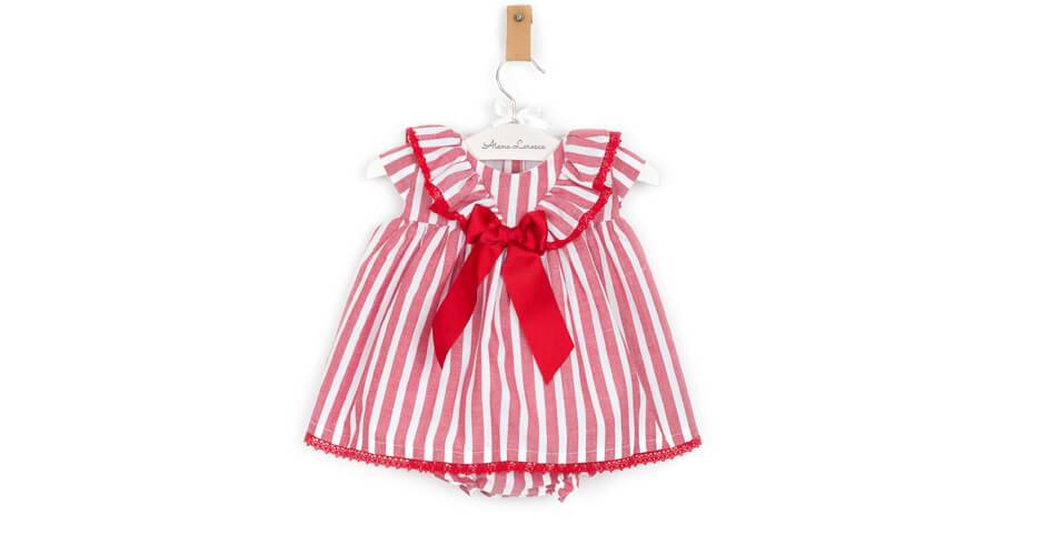 Jesusito a rayas rojo de Valentina Bebés   Aiana Larocca
