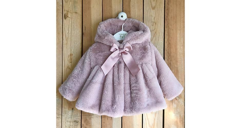 Abrigo pelo con capucha & forro polar interior de Valentina Bebés | Aiana Larocca