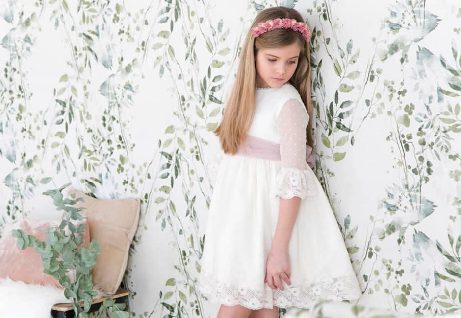 Vestido niña ceremonia tul plumeti | Aiana Larocca