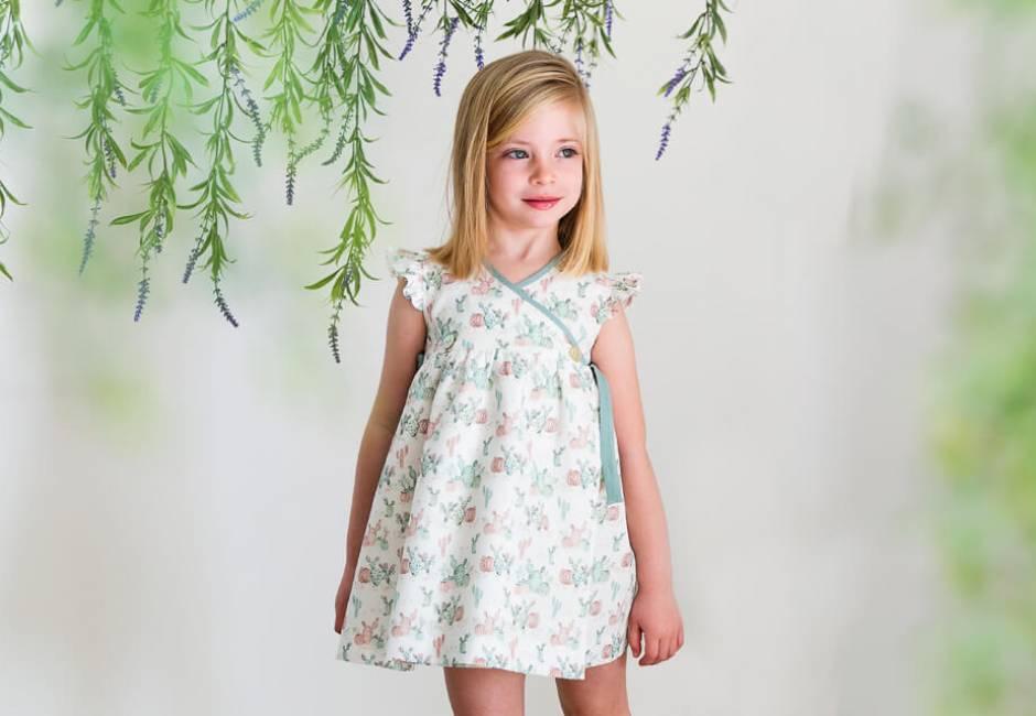 Vestido estampado lacitos verdes de Ancar | Aiana Larocca